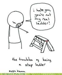 The troubles of being a step ladder